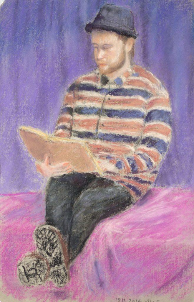 Juha Saarinen: Ville Reading, 2016, pastelli